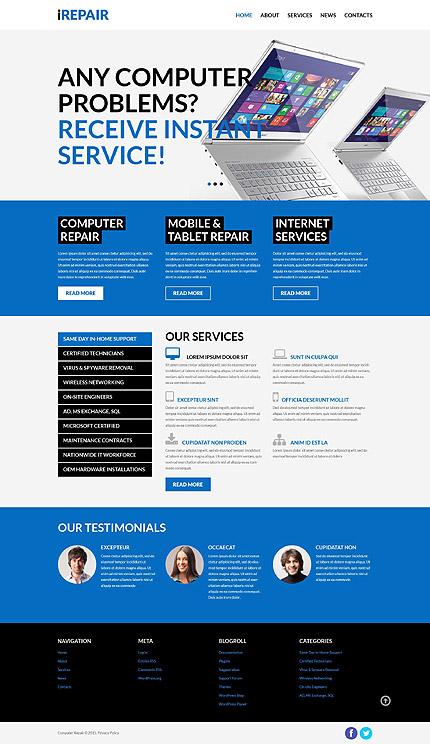 Computer Repair Services WordPress Theme