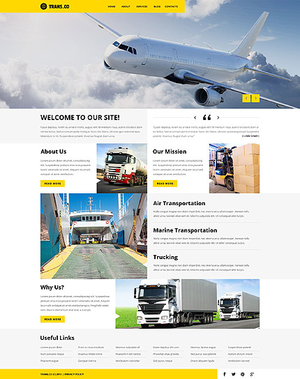 Transportation Company WordPress Theme