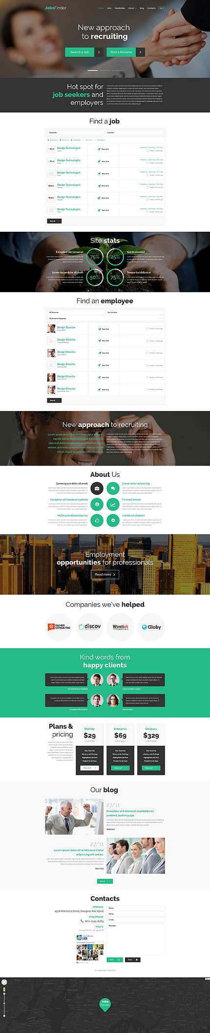 30 Newest WordPress Templates with Parallax Scrolling Effect 2015 ...
