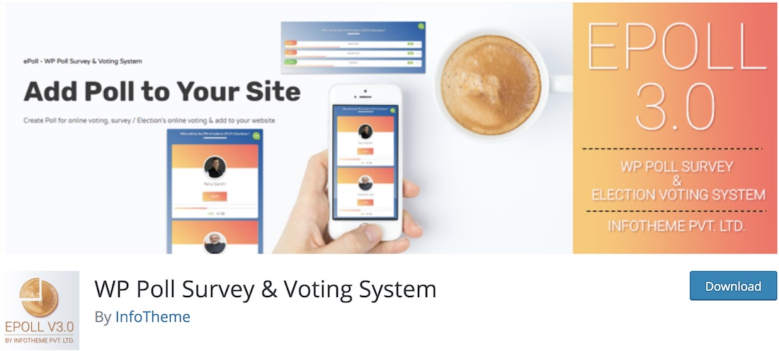 wp poll survey voting system