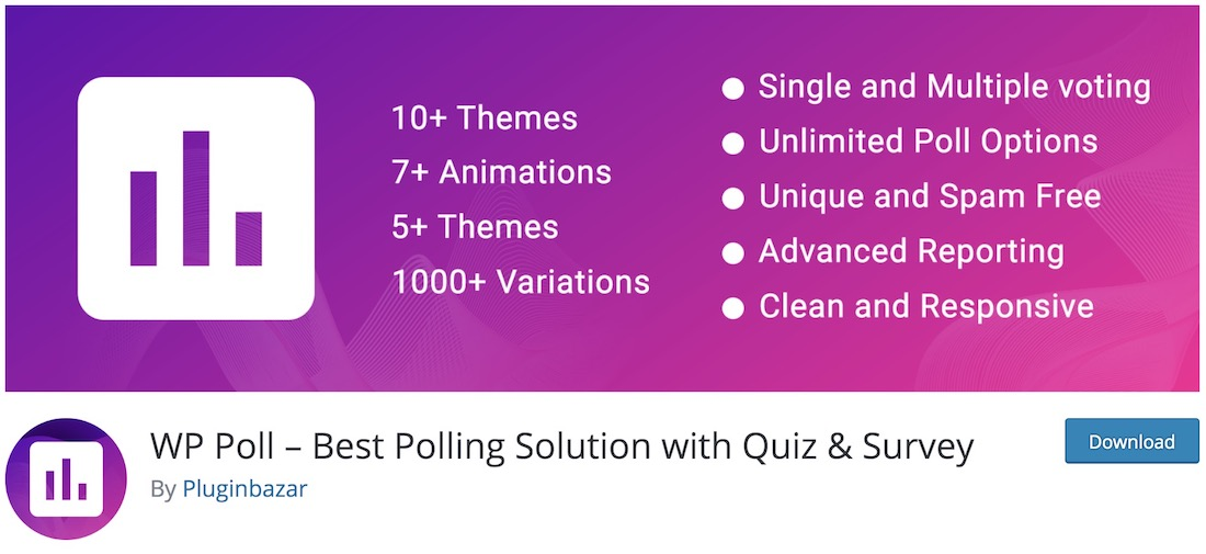 wp poll wordpress plugin