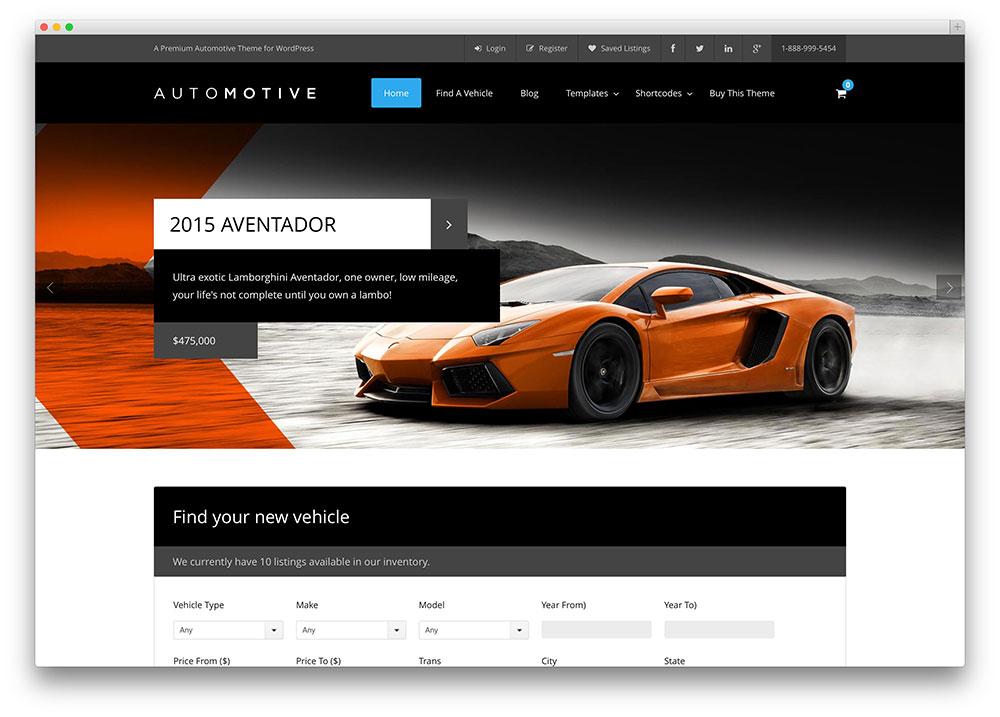 Free Car Dealer Web Template