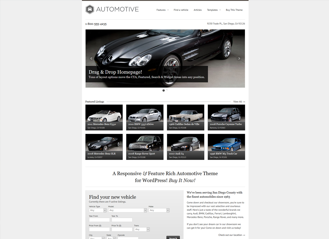 WP Pro Automotive Responsive WordPress Theme