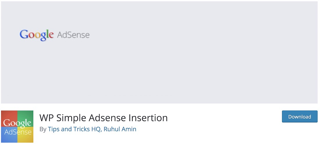 wp simple adsense insertion plugin