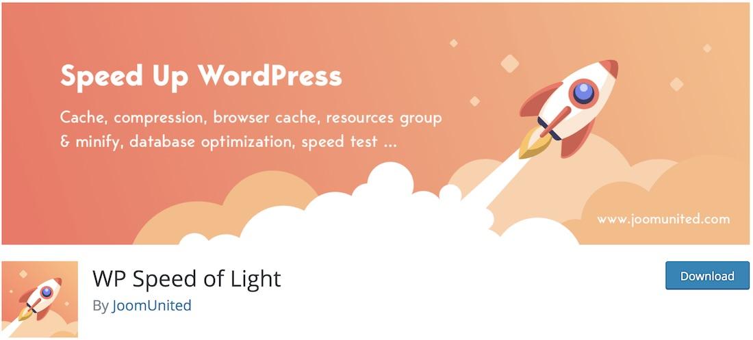 wp speed of light wordpress plugin