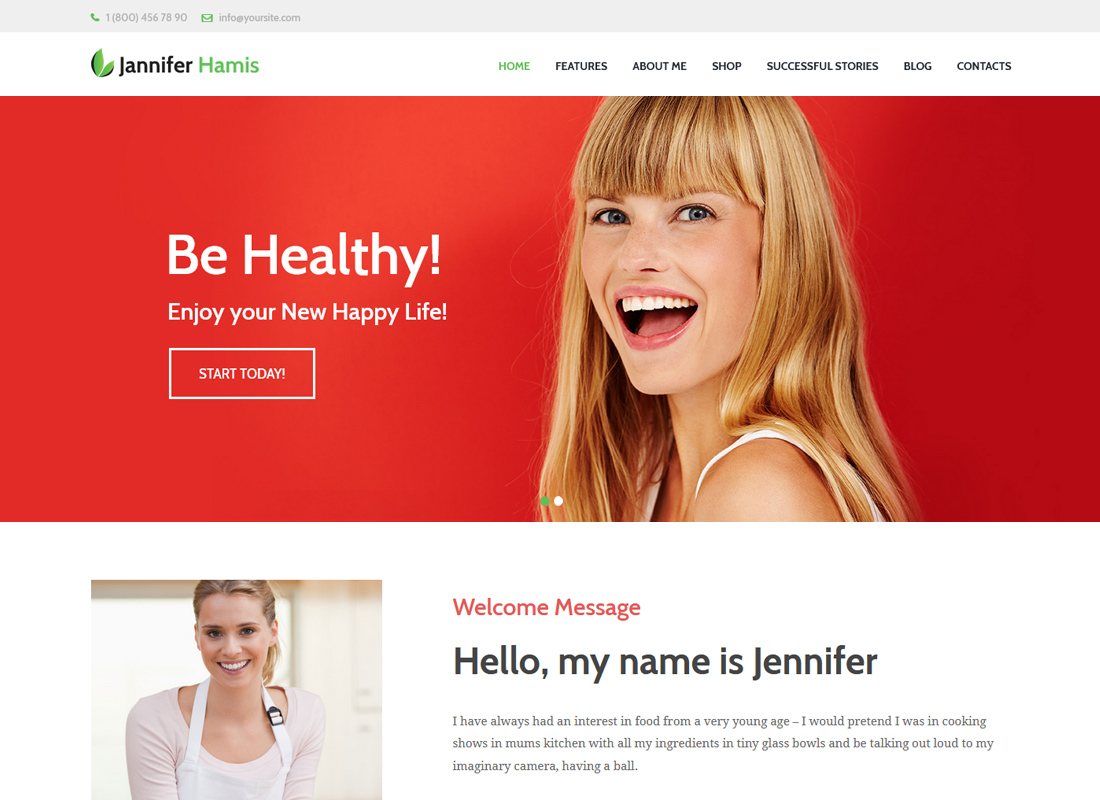Jennifer Hamis | Health Coach Blog & Lifestyle Magazine WordPress Theme