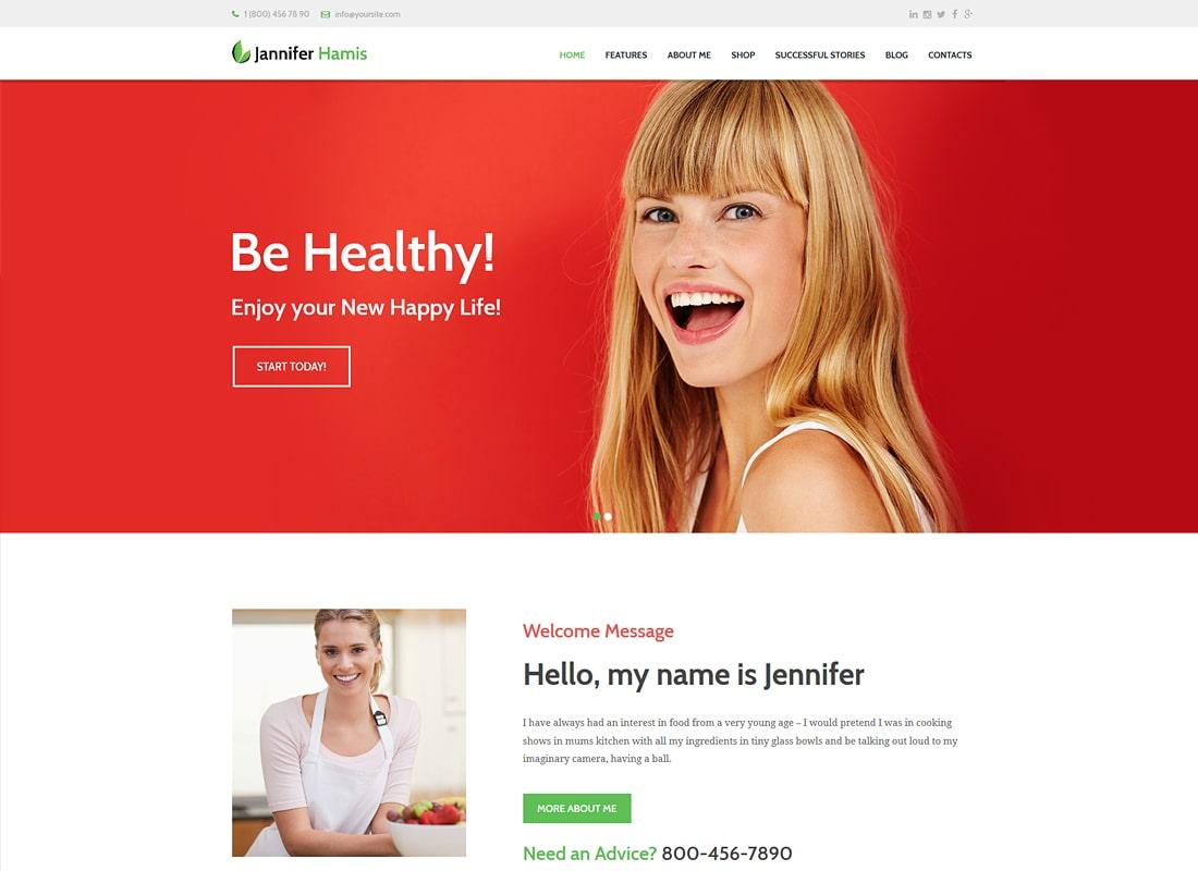 Jannifer Hammis | Health Coach Blog & Lifestyle Magazine WordPress Theme