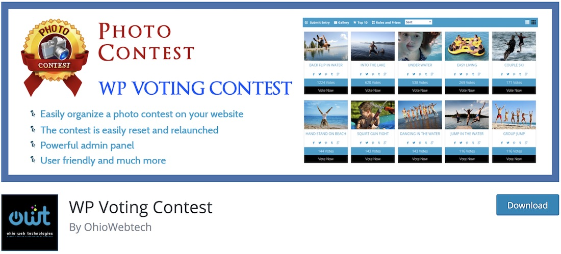wp voting contest wordpress plugin