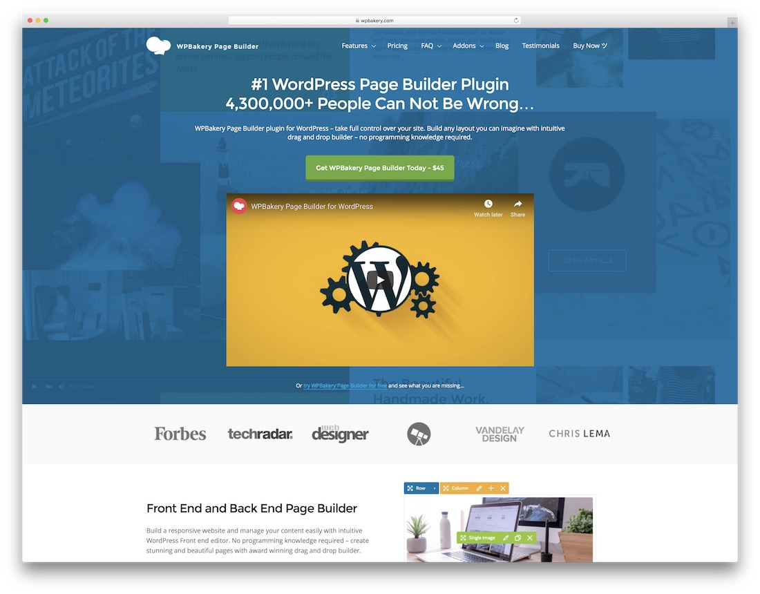 wpbakery education website builder