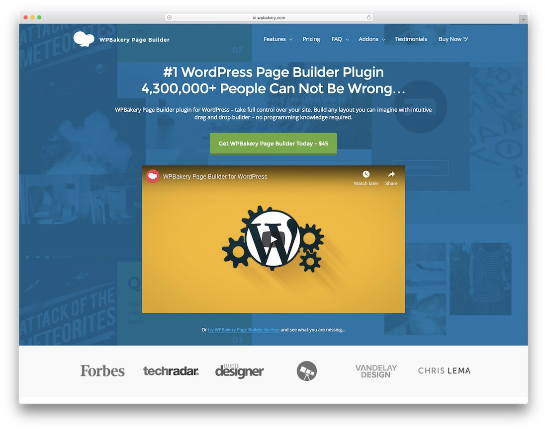 wpbakery school and teacher website builder