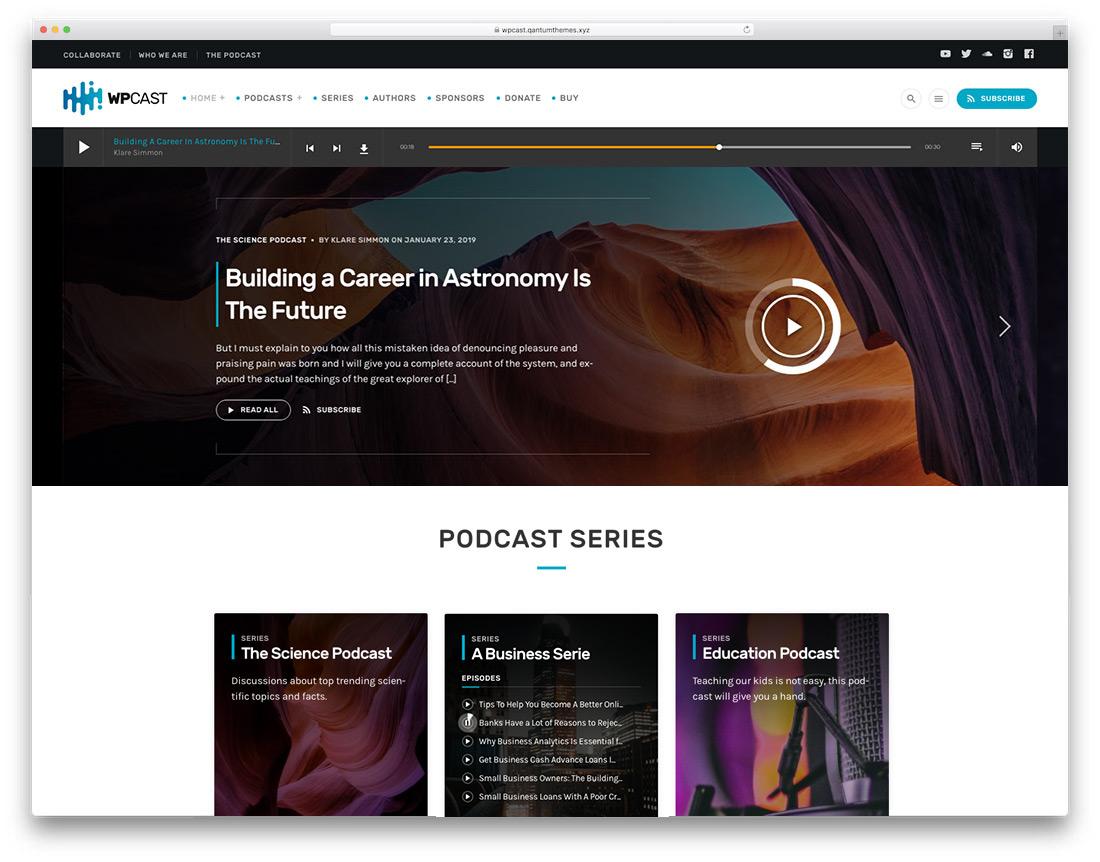 Podcasting WordPress theme