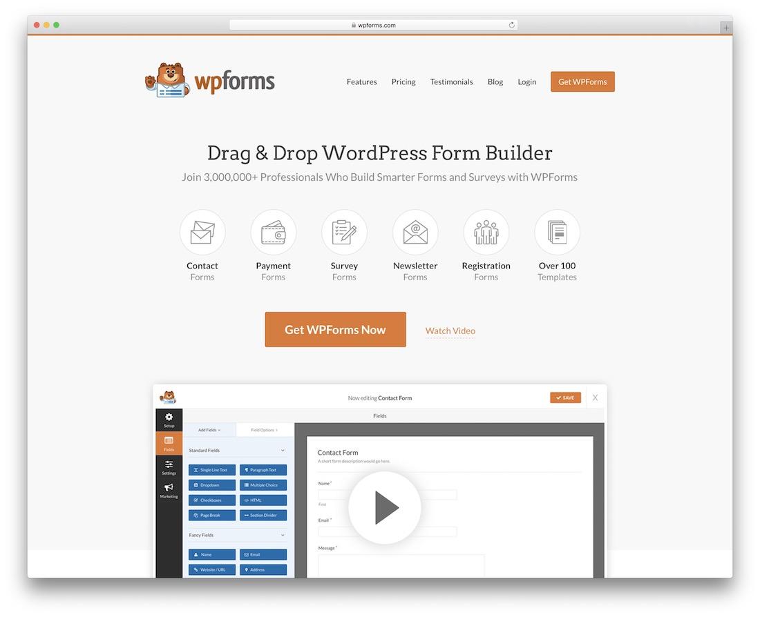 wpforms lite free wordpress survey plugin