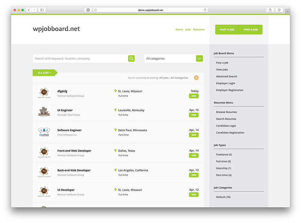 WPJobBord plugin for WordPress