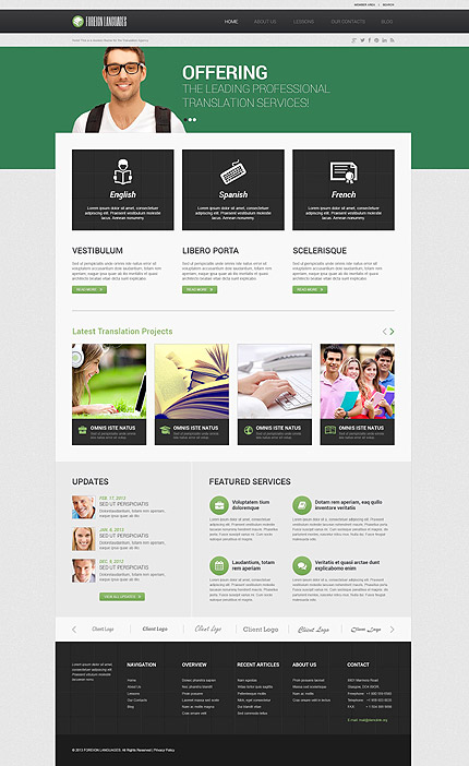 Translation Bureau WordPress Theme