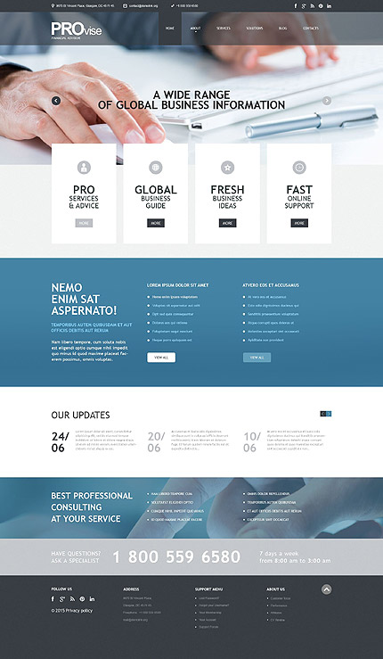 Financial Advisor WordPress Theme
