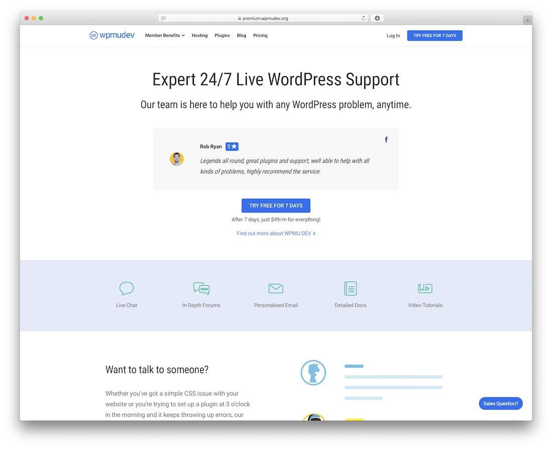 wpmu dev live wordpress support