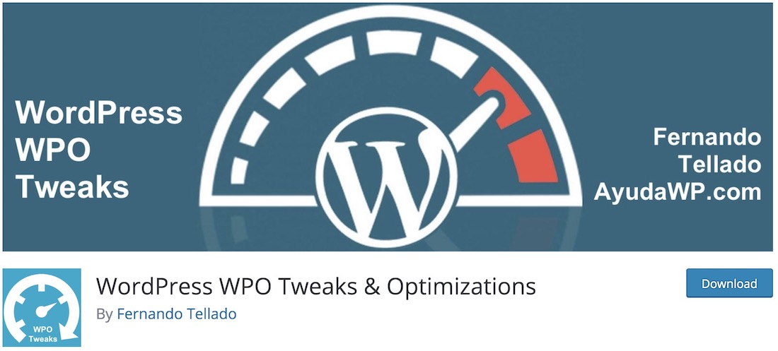 wpo tweaks wordpress plugin