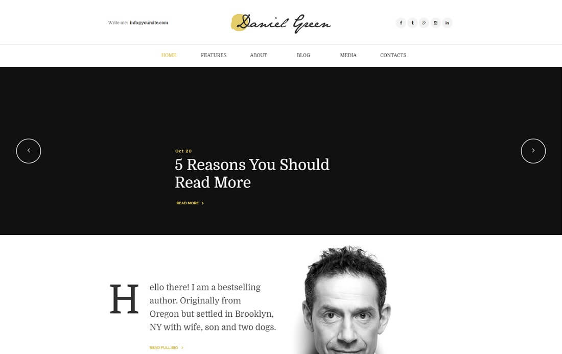writer journalist wordpress theme