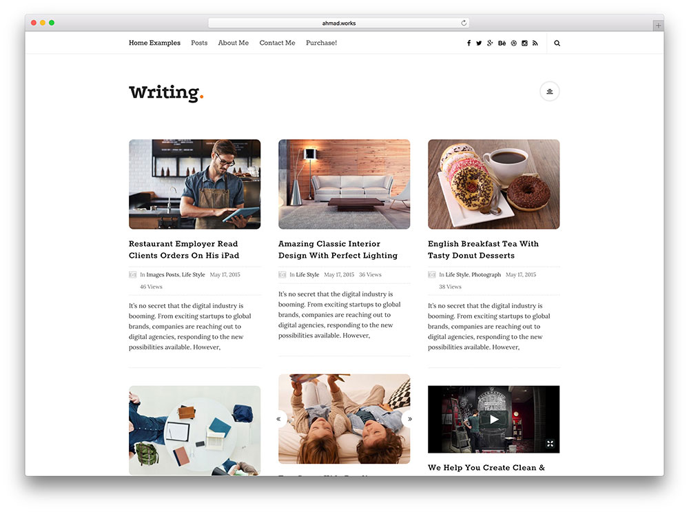 writing-masonry-blog-theme