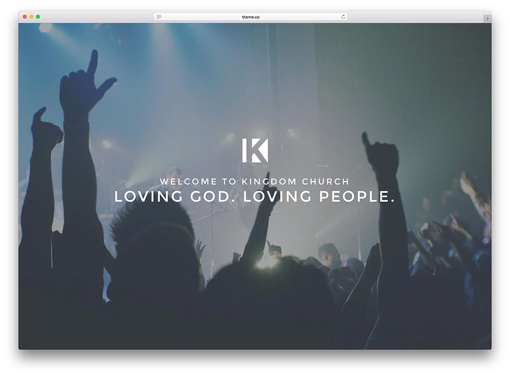 x minimal fullscreen church theme