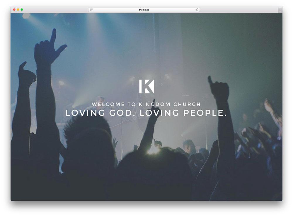 x minimal fullscreen church theme
