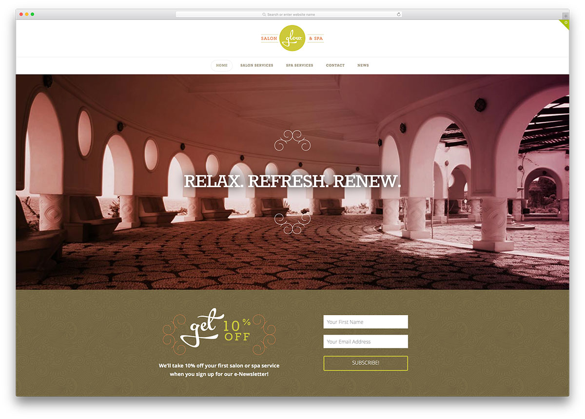 X Theme Multipurpose Spa Salon Website Template
