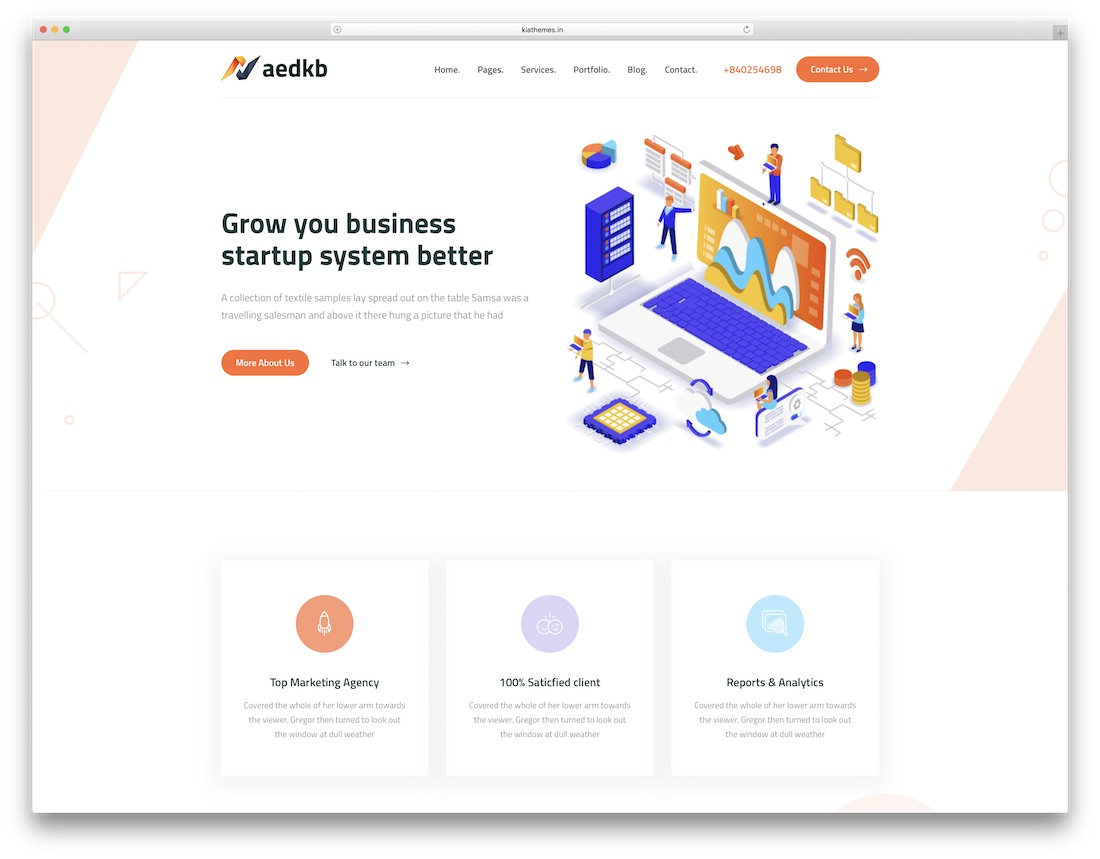 xaedkb technology website template