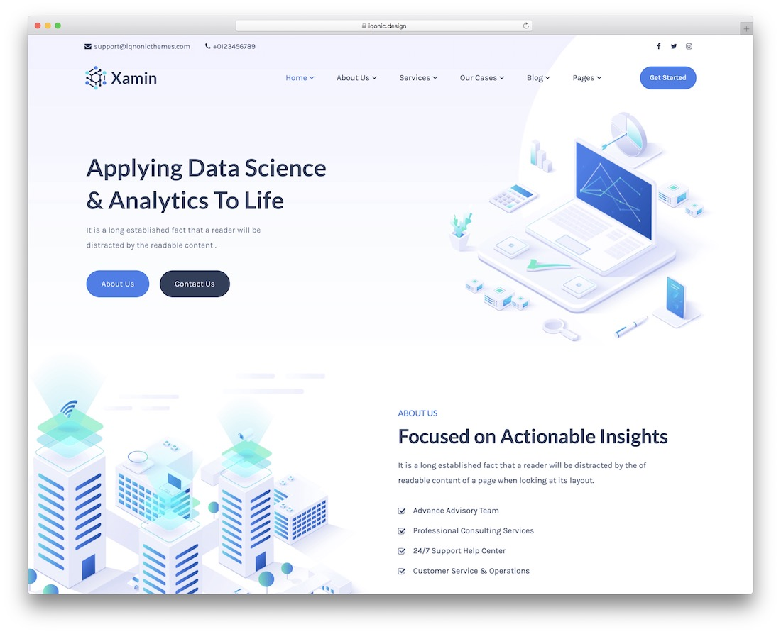 xamin science wordpress theme
