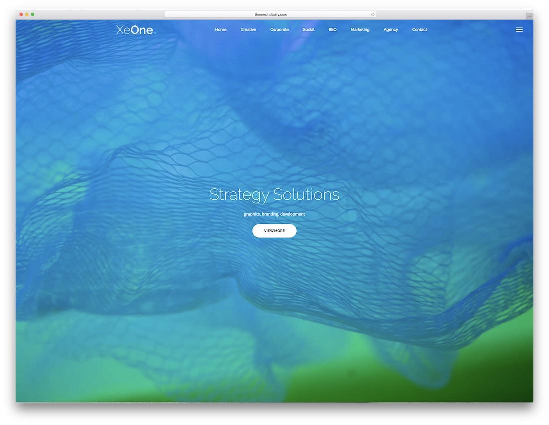 xeone fullscreen website template