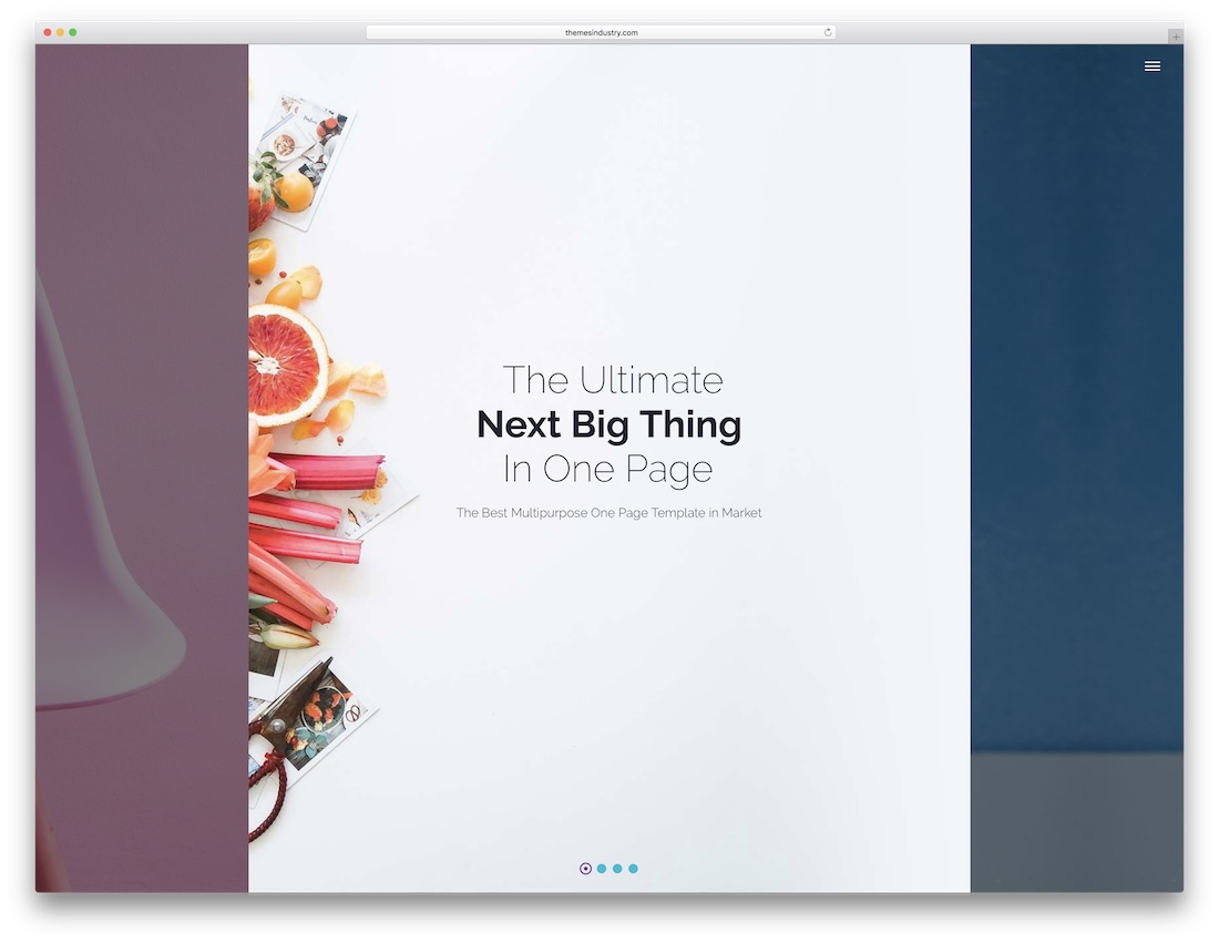 xeone html5 one page website template