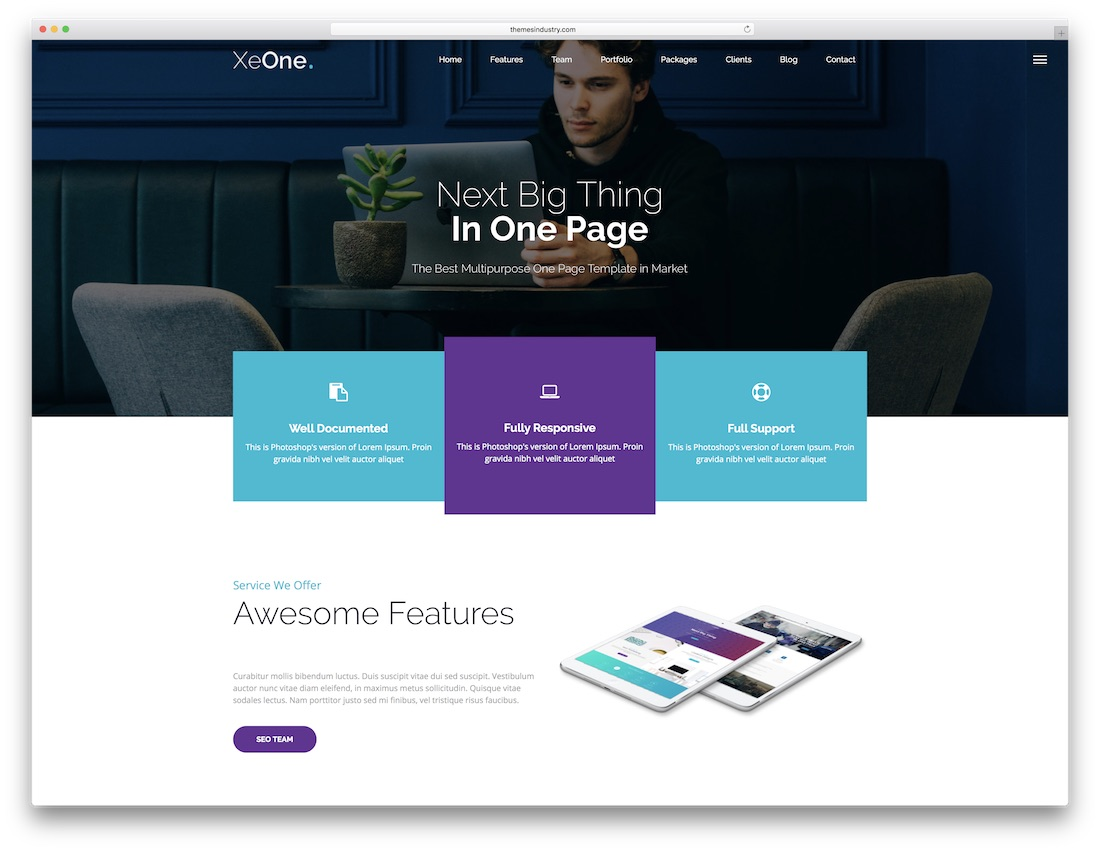 xeone multipurpose website template