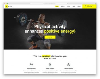 XGym Free Template