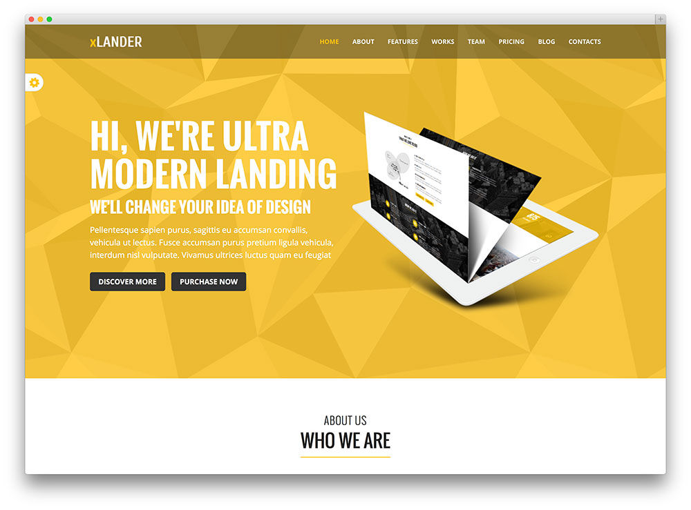 xlander multipurpose theme