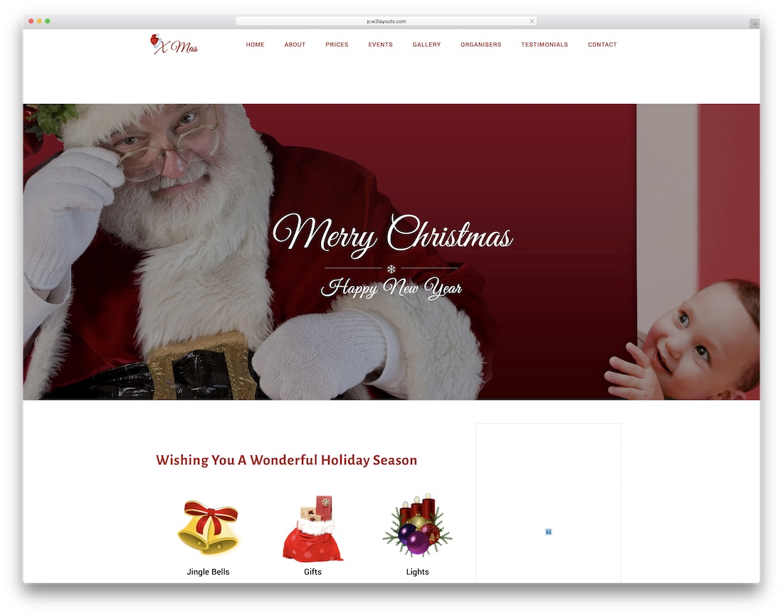 xmas free christmas event website template