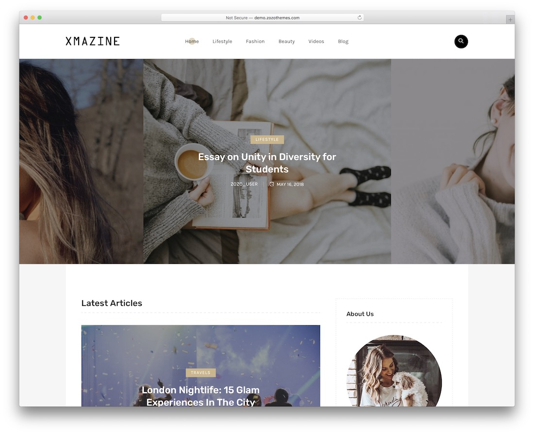 xmazine wordpress theme