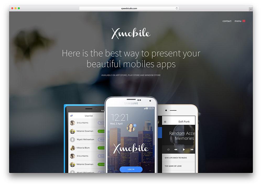 xmobile-fullscreen-app-landing-page-theme