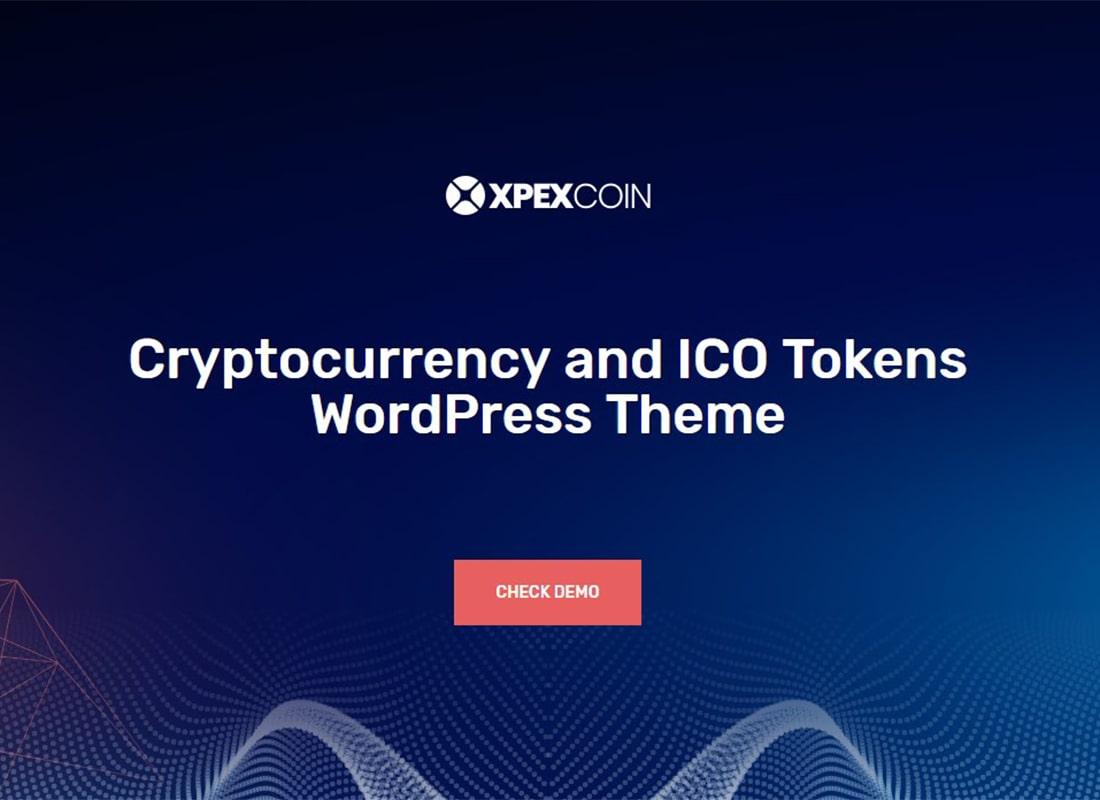 XPEXCoin | Powerful Bitcoin & Cryptocurrency WordPress Theme