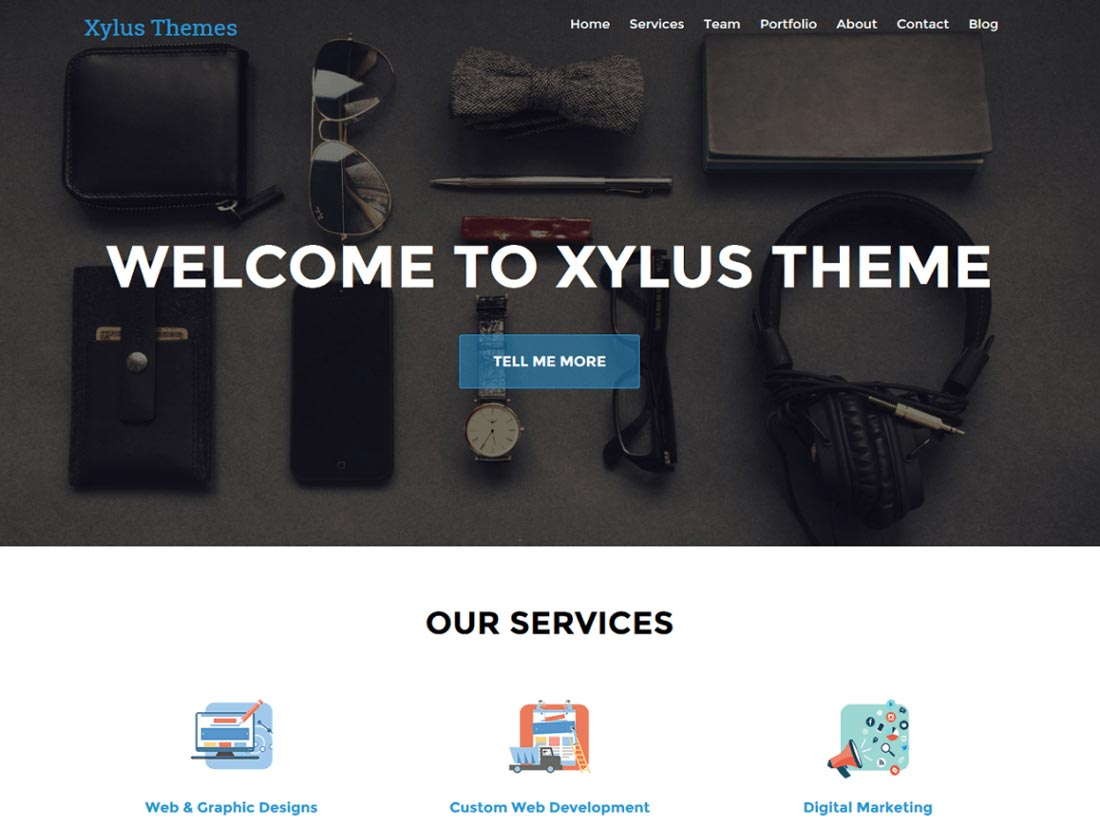 minimalist wordpress theme