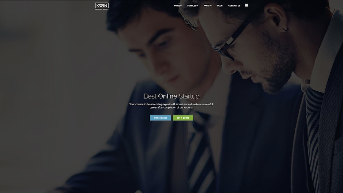 xwin consulting website template