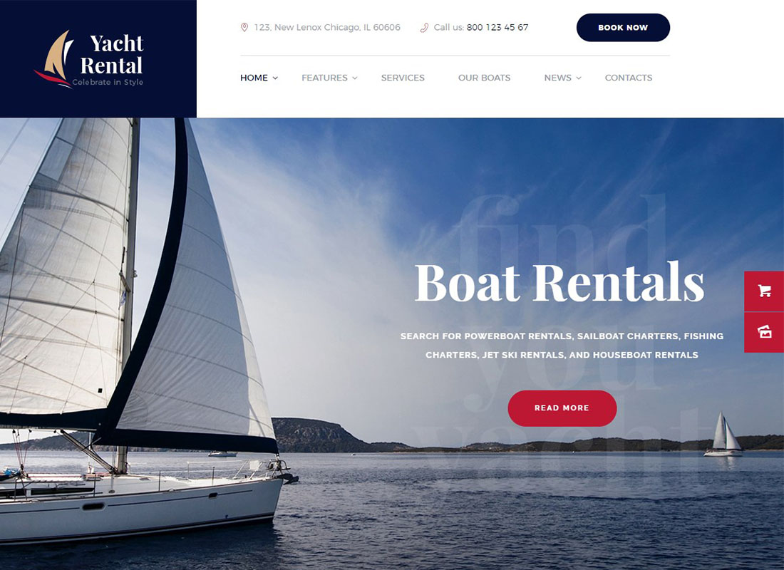 Yacht Rental | Yacht and Boat Rental Service WordPress Theme