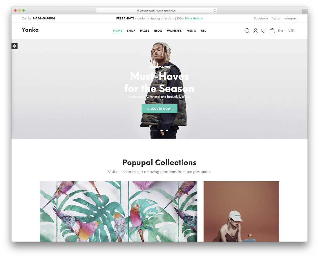 yanka fashion prestashop theme
