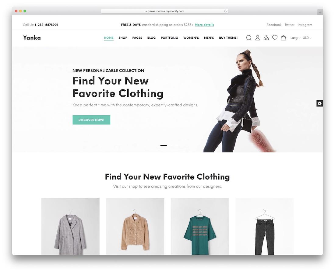 yanka responsive shopify theme