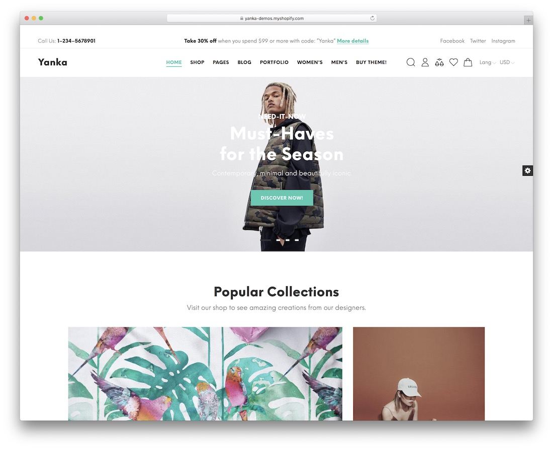 yanka shopify theme for t-shirts