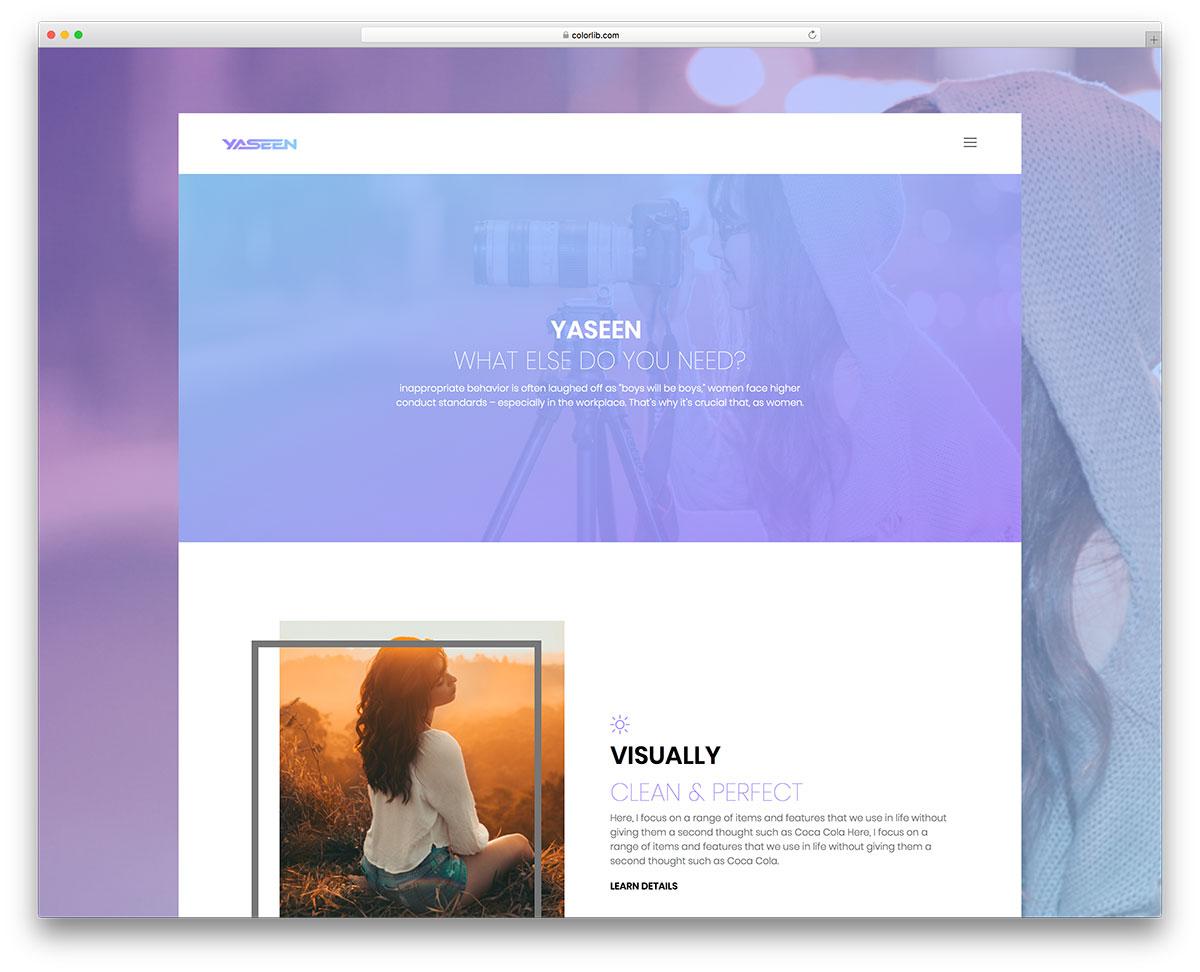 Скачать бесплатно html шаблон Yaseen