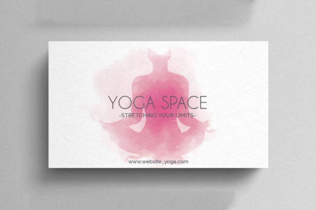 yoga business card template