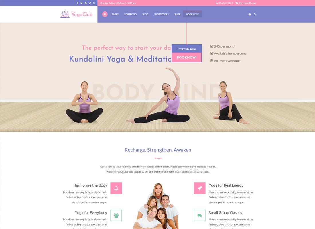 Yoga Club | Health, Yoga Centers, Yoga Studios and Yoga Trainers WordPress Theme