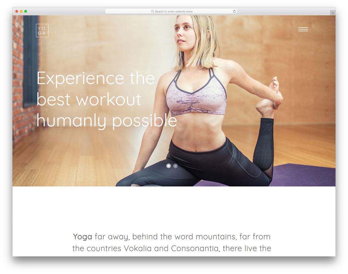 Скачать бесплатно html шаблон Yoga