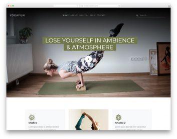 Yogafun Free Template