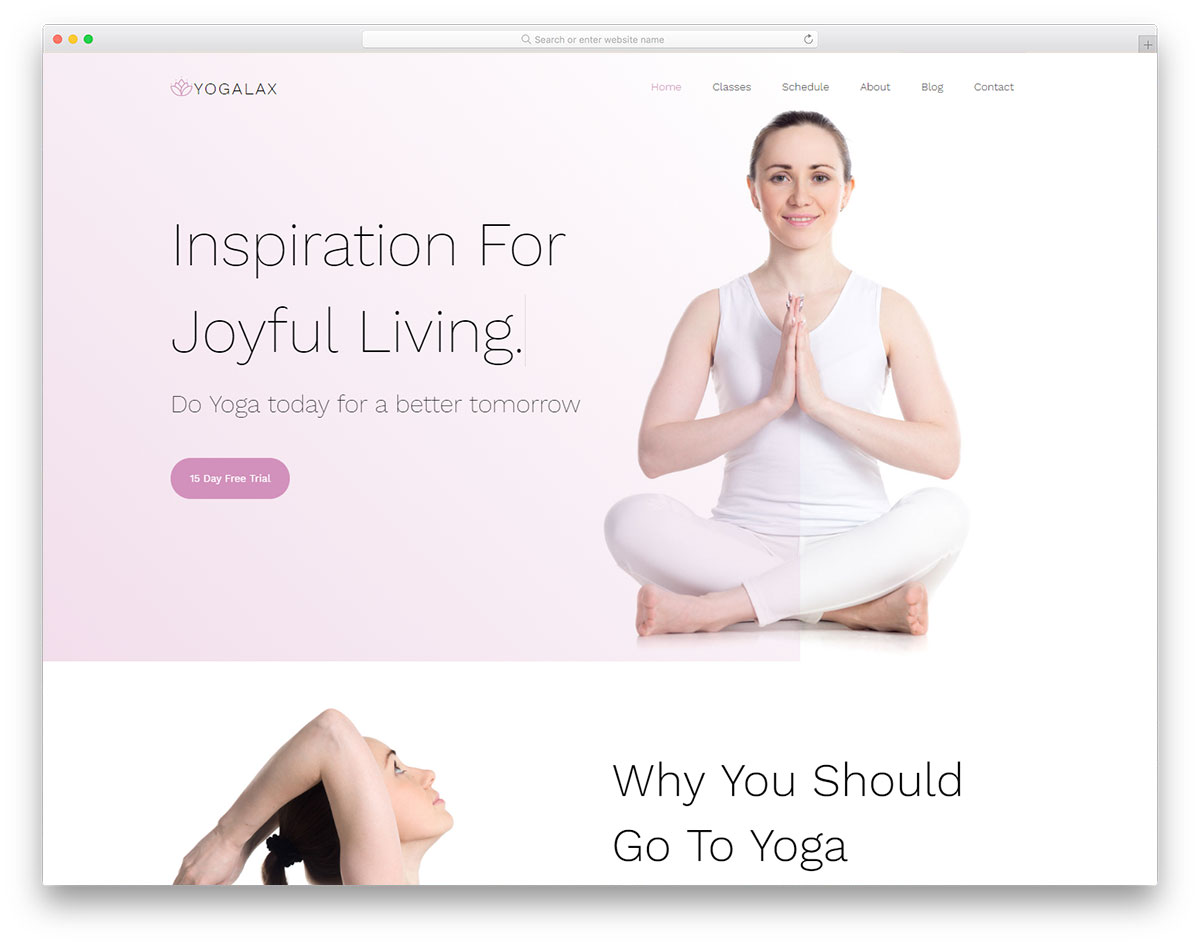 yogalax free template