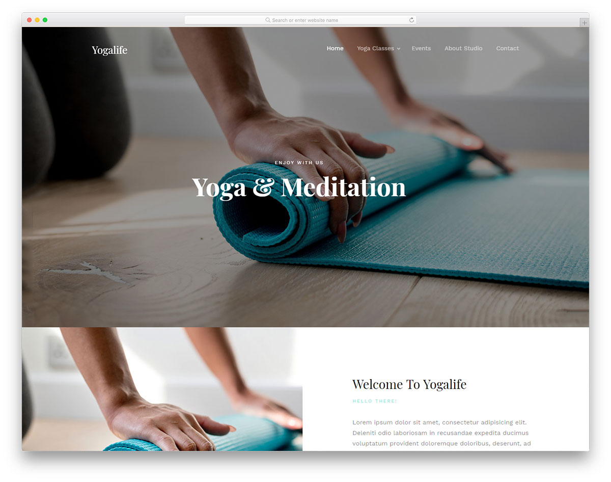 yogalife 무료 템플릿